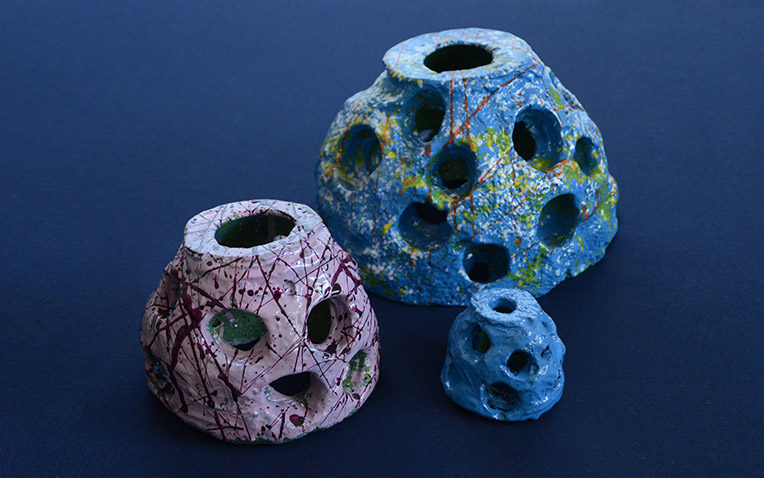 Eternal Reefs keepsake paper weights - painted